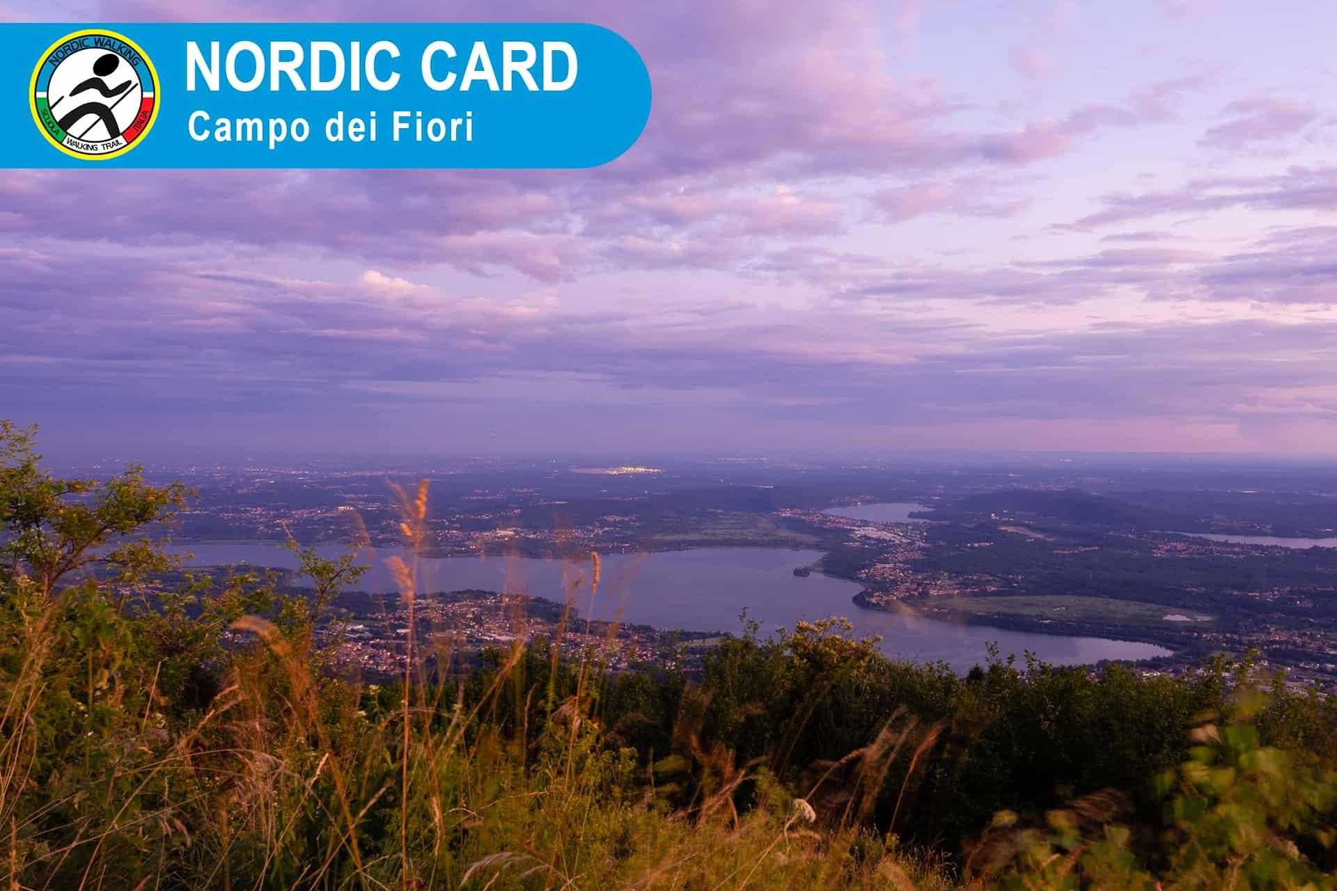 Nordic Card Camminata Nordic Walking al Campo dei Fiori - Roberto Fontana Istruttore Nordic Walking Scuola Walking Trail Italia