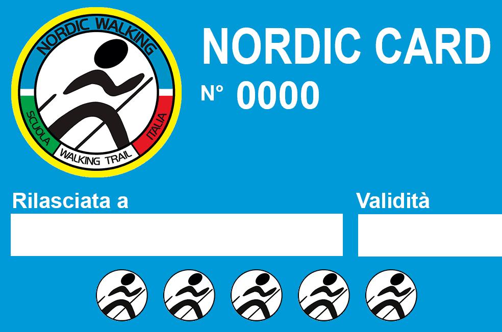 Nordic Card pacchetto di camminate di allenamento Nordic Walking